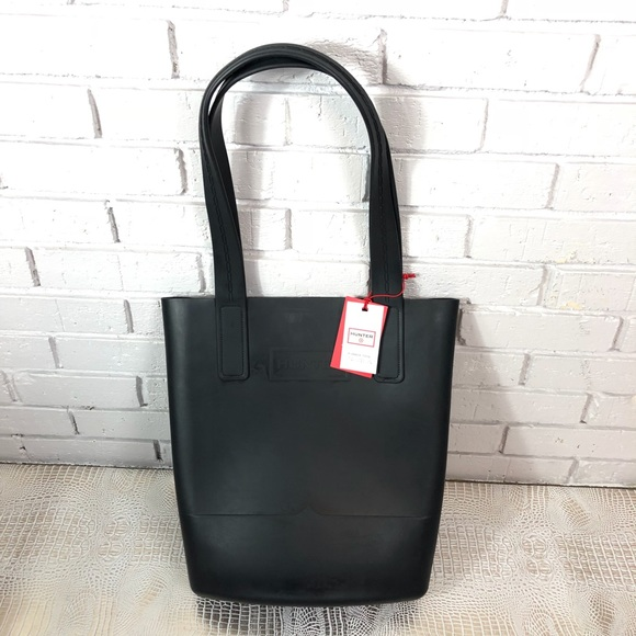 9b2045c822 Hunter for Target Rubber Sling Tote Bag in Black NWT